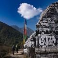 Passing enormous prayer stones and chortens.- Everest Base Camp (EBC) Part I