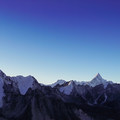 A panoramic photo of Everest and the surrounding high peaks.- Everest Base Camp (EBC) Overview