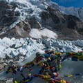 Everest Base Camp is a continually shifting pile of rocks and ice on the Khumbu Glacier.- Everest Base Camp (EBC) Overview