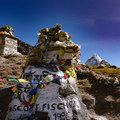 Memorials from the 1996 (Into Thin Air) disaster are passed along the upper trail along with many other memorials to those who have lost their lives on Everest.- Everest Base Camp (EBC) Overview