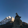 Ama Dablam and the eyes of Buddha.- Everest Base Camp (EBC) Overview