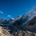 The last segment to Everest Base Camp is a boulder field at the edge of the glacier.- Everest Base Camp (EBC) Part II