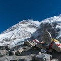 Everest Base Camp is a continually shifting pile of rocks and ice on the Khumbu Glacier.- Everest Base Camp (EBC) Part II