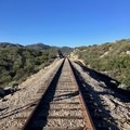 The well-known railroad tracks at mile 3.- Pacific Crest Trail: California Section A