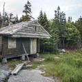 The original observer's cabin is undergoing renovations.- Pillsbury Mountain Fire Tower