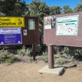 Self pay kiosk at the campground entrance.- Bob Scott Campground