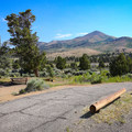 Views of the peaks at the northern end of the Toiyabe Range.- Bob Scott Campground