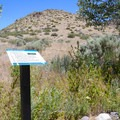 A couple of interpretive signs are present along the hike.- Deadman's Creek