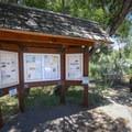 An informational sign inside Dayton State Park.- Dayton State Park