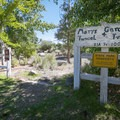 Mary's Garden is a shady spot with benches, and it accesses the Rock Point Mill Trail.- Dayton State Park