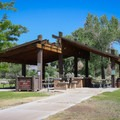 A pavilion available by pre-arranged rental inside the central park area.- Dayton State Park