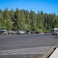 Parking area at Cave Rock State Park.- Cave Rock State Park