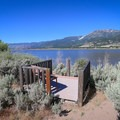 A deck along the trail.- Little Washoe Lake
