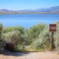 The north edge of the lake has more secluded areas for fishing and picnicking.- Little Washoe Lake