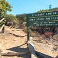 View of the trailhead.- Martha's Grove Trail Loop