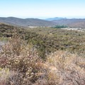 View of Sycamore Canyon and Goodan Ranch.- Martha's Grove Trail Loop