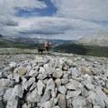 Rock cairn atop Summit Ridge.- Summit Ridge Trail