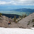Eastern views on the way back down.- Fairy Lake to Sacagawea Peak