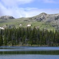 Fairy Lake is one of the Bridgers' best and most accessible lakes.- Fairy Lake to Sacagawea Peak