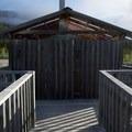 Elevated restroom building.- Summit Lake Campground