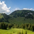 Gross Aubrig, seen from the ascent near Eggstofel.- Gross Aubrig + Nussen Loop