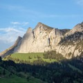 Light catches the cliffs of Bockmattlistock.- Gross Aubrig + Nussen Loop