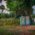 The only facilities at this beach park are portable toilets.- Chun's Reef