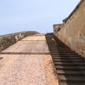Ramp to the rooftop level of San Cristobal.- San Juan National Historic Park
