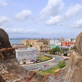 View of Old San Juan from an overlook in San Cristobal.- San Juan National Historic Park
