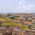View to the southeast from San Cristobal's rooftop.- San Juan National Historic Park