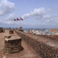 Rainwater cisterns on the rooftop of San Cristobal.- San Juan National Historic Park