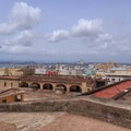 View over the plaza and Old San Juan from San Cristobal's rooftop.- San Juan National Historic Park