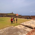 Kite flying is a popular activity at San Felipe del Morro.- San Juan National Historic Park