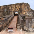 The ramp to the lower mezzanine of San Felipe del Morro enabled transportation of heavy artillery and ammunition.- San Juan National Historic Park
