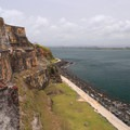 View overlooking the paseo del morro (walkway) from the mezzanine of San Felipe del Morro.- San Juan National Historic Park