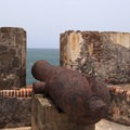 Ancient cannon situated in one of the many embrasures on the lower mezzanine of San Felipe del Morro.- San Juan National Historic Park