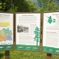 An informational kiosk at the put-in.- Pere Marquette River: Indian Bridge to Scottville Riverside Park