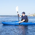 A paddler near the mouth of the river.- Big Sable River