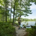 Enjoying the views on the Island Trail.- Ludington State Park Hiking Trails