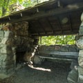 One of a handful of shelters found along the trails.- Ludington State Park Hiking Trails