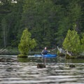 Paddling along the Ludington Canoe Trail.- Ludington Canoe Trail