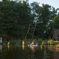 There are many coves to explore.- Ludington Canoe Trail