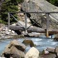 Crossing over Canyon Creek.- Cracker Lake