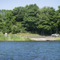 The boat ramp at Father Marquette Memorial Park.- Pere Marquette Lake Loop