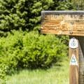 Trailhead for Timberline Lake Trail.- Timberline Lake Hike