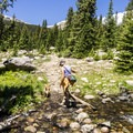 One of three stream crossings.- Timberline Lake Hike