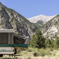 Mount Princeton is visible from some campsites.- Chalk Lake Campground