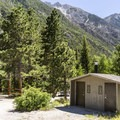Chalk Lake Campground is surrounded by high peaks.- Chalk Lake Campground