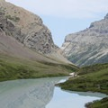 From Cracker Lake, a gorgeous look back down the canyon drainage.- Cracker Lake