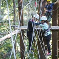 Guides can offer fun challenges catered to couples along the Sequoia Aerial Adventure course.- Mount Hermon Aerial + Zipline Adventures